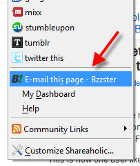 email this page - bzzster