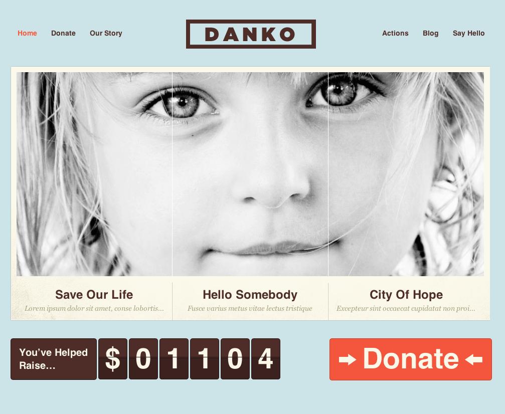 Best Free WordPress Theme Danko