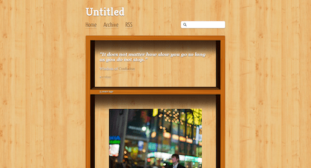 The Book Shelf Tumblr Theme