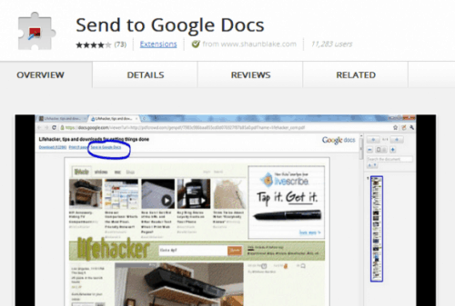 Chrome Send-to-Google-Docs