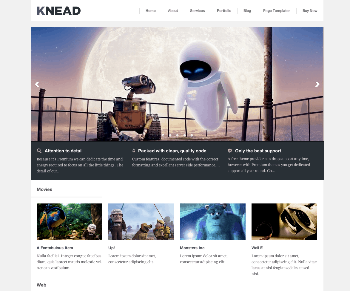 5 premium responsive wordpress themes worth exploring knead pronofoot35fo Image collections