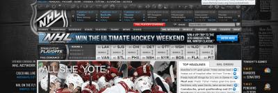 NHL website screen shot