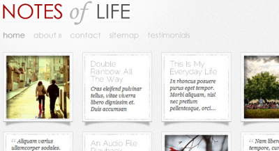 Notes of Life WordPress Theme