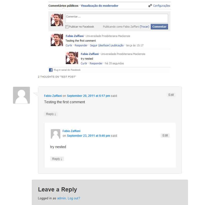 SEO Facebook Comment WordPress Plugin