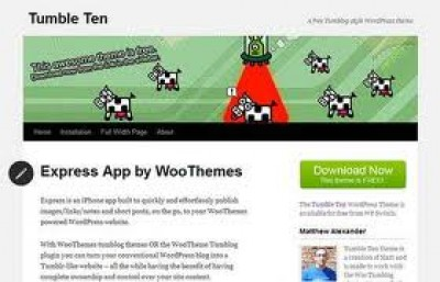 Tumble Ten WordPress theme