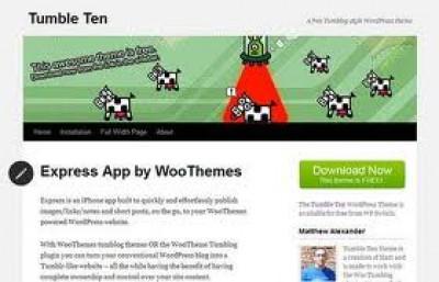 Tumble Ten WordPress theme