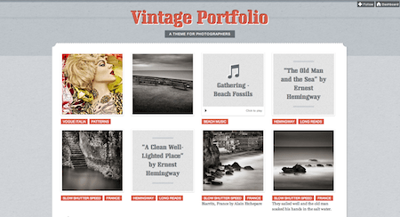 The Vintage Portfolio theme is different than the other 19 in this...