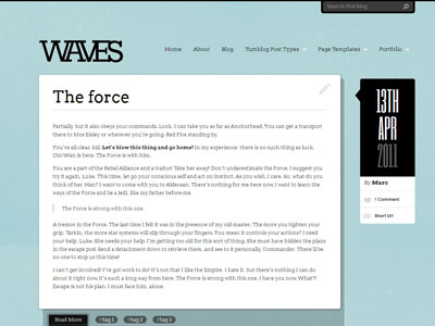 Waves WordPress Theme