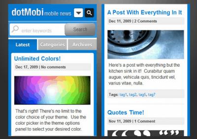 DotMobi WordPress Theme