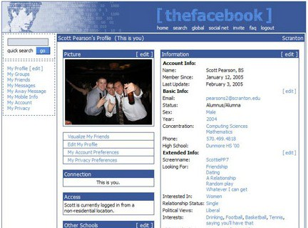 10 Screenshots Of The Old Facebook Designs Content Marketing Blog