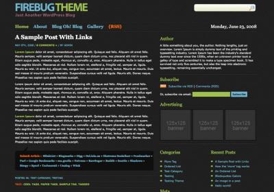 Firebug WordPress Theme