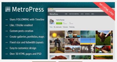 MetroPress WordPress Theme