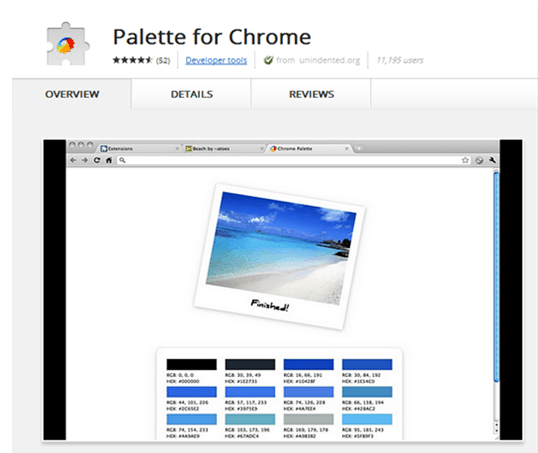 Palette for Chrome