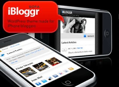 SOFA iBloggr WordPress iPhone theme