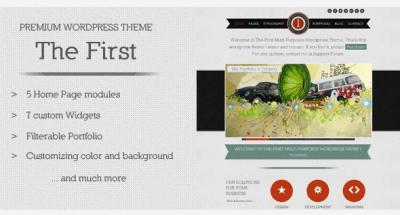 The First WordPress Theme