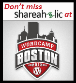 Shareaholic is attending and speaking at Wordcamp Boston