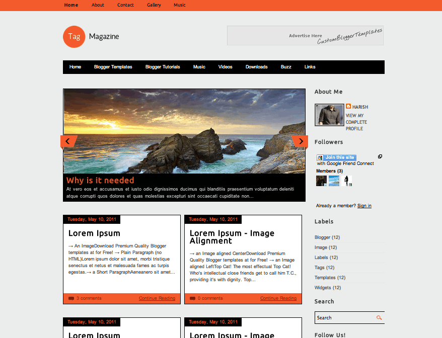 Tag Magazine Blogger Template