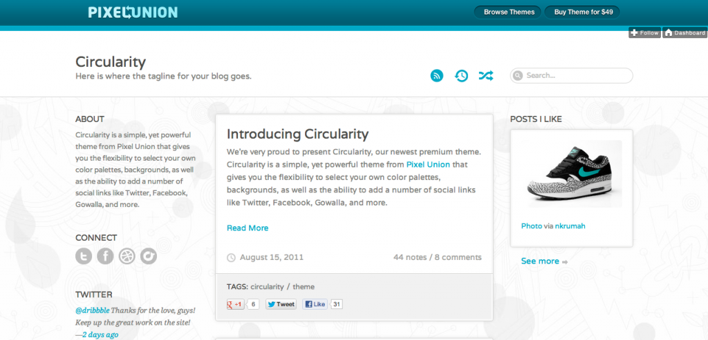 Circularity Tumblr Theme