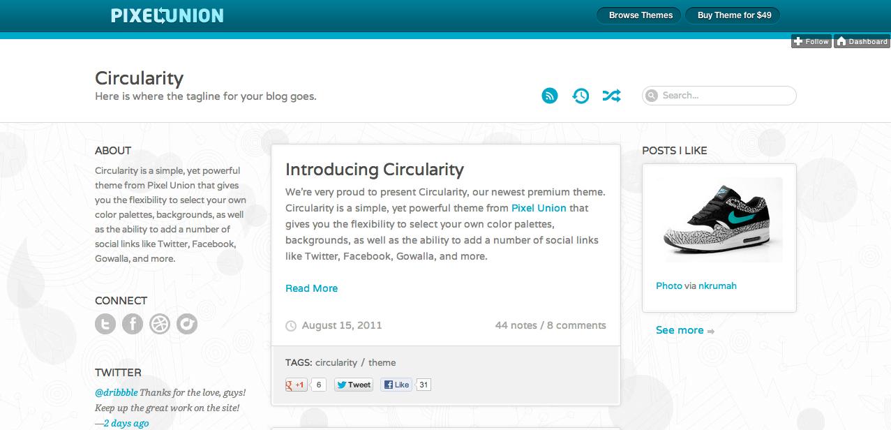 Circularity Tumblr Theme