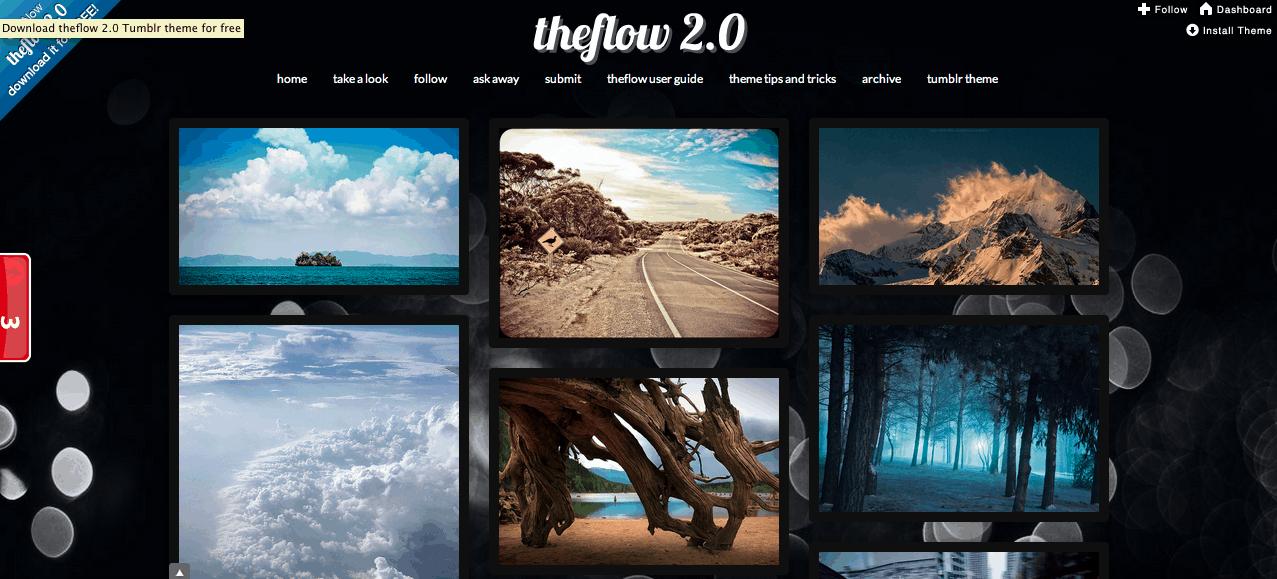 theflow 2.0 tumblr theme