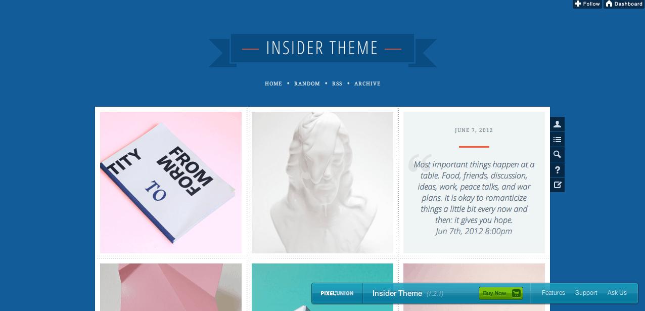 Insider Tumblr Theme