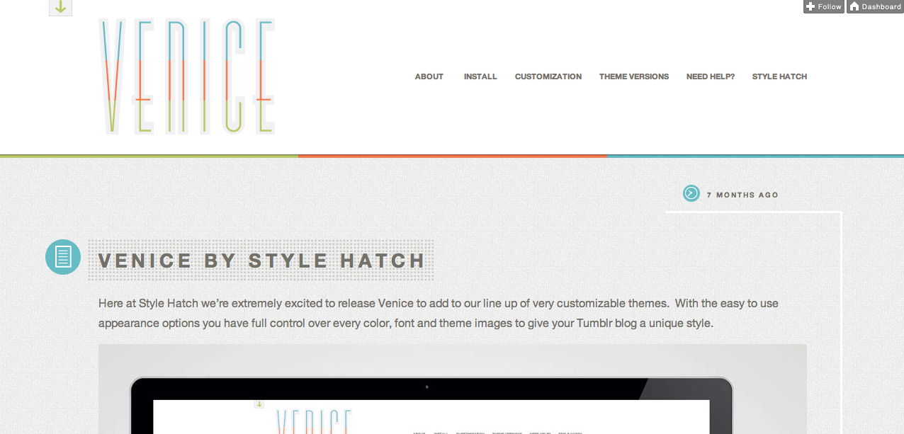 Venice Tumblr Theme | Content Marketing Blog – Shareaholic