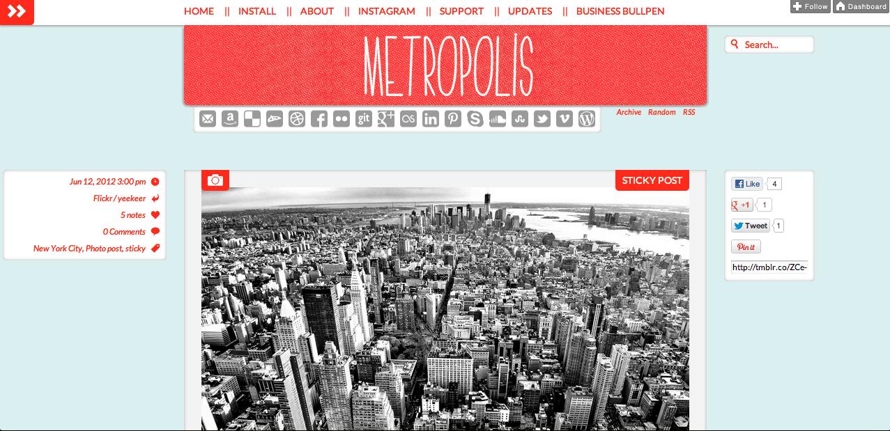 Metropolis Tumblr Theme