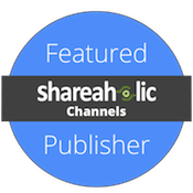 I'm a featured publisher in Shareaholic 
