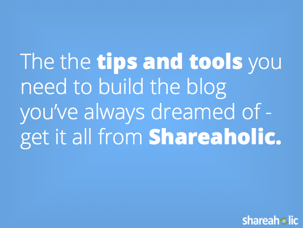 Shareaholic Newsletter