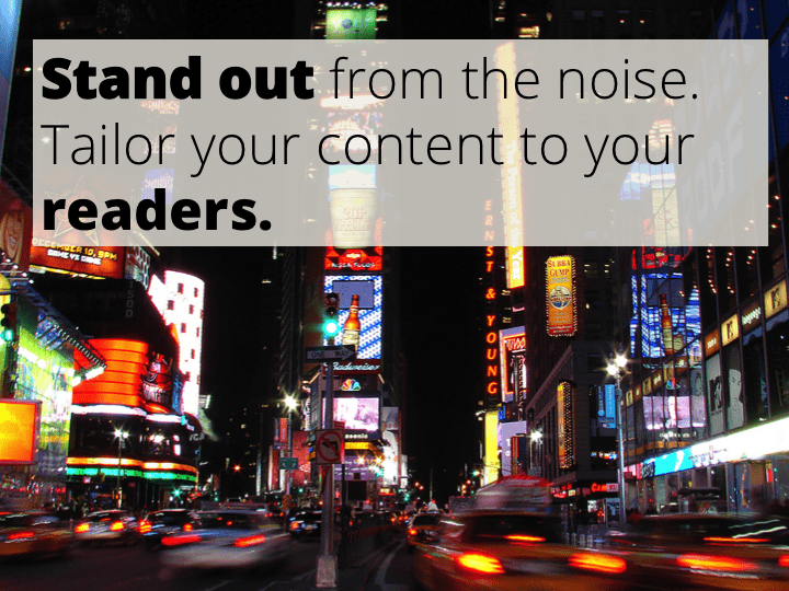 stand out from the noise