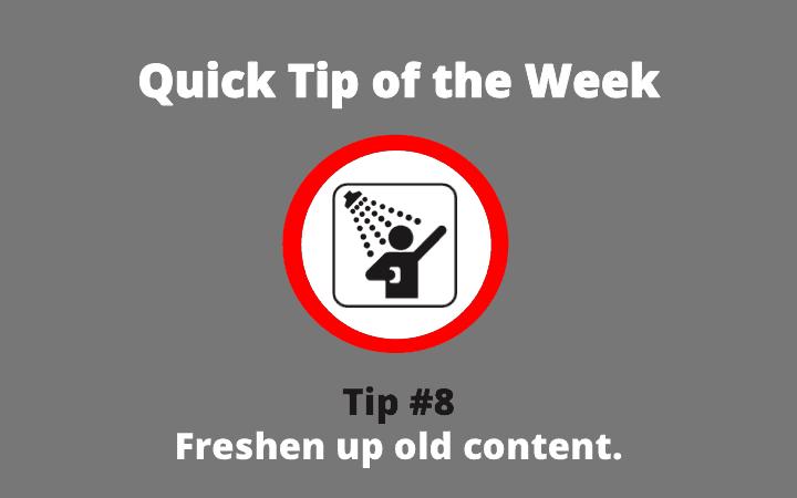 quick tip 8