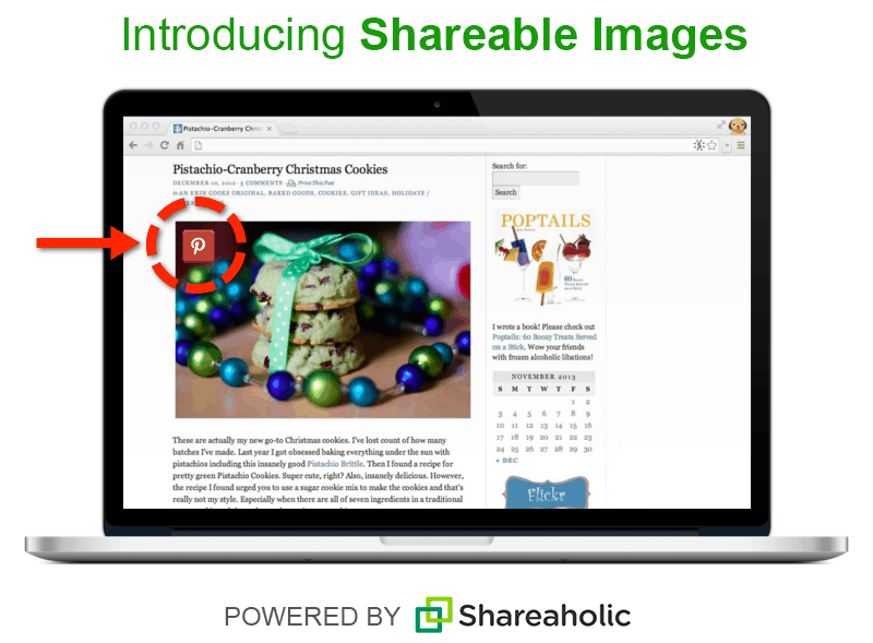 Shareable Images, image share buttons