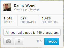 All you need is 140 characters