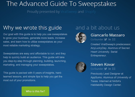 The Advanced Guide to Sweepstakes on ViralSweep