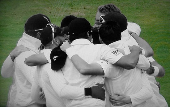 The England cricket team by Gavin Llewellyn