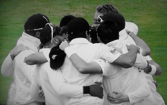 The England cricket team by Gavin Llewellyn