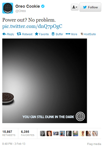 Oreo dunk in the dark tweet