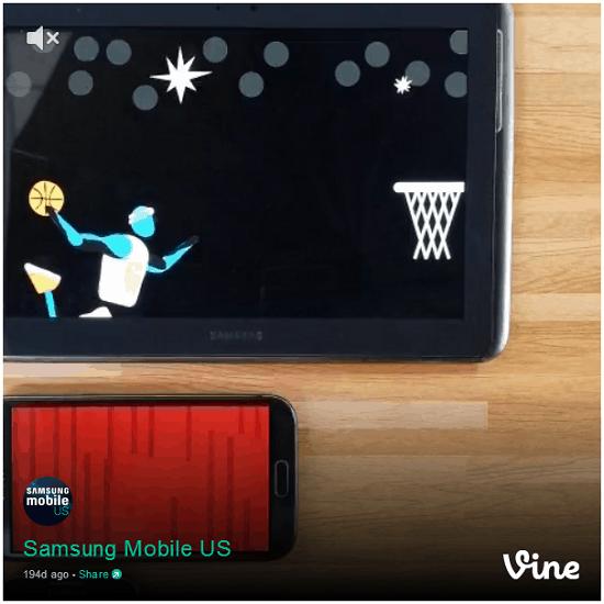 Samsung mobile vine