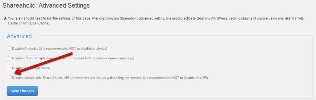 Enabling Server-Side Share Counts API (by Shareaholic)