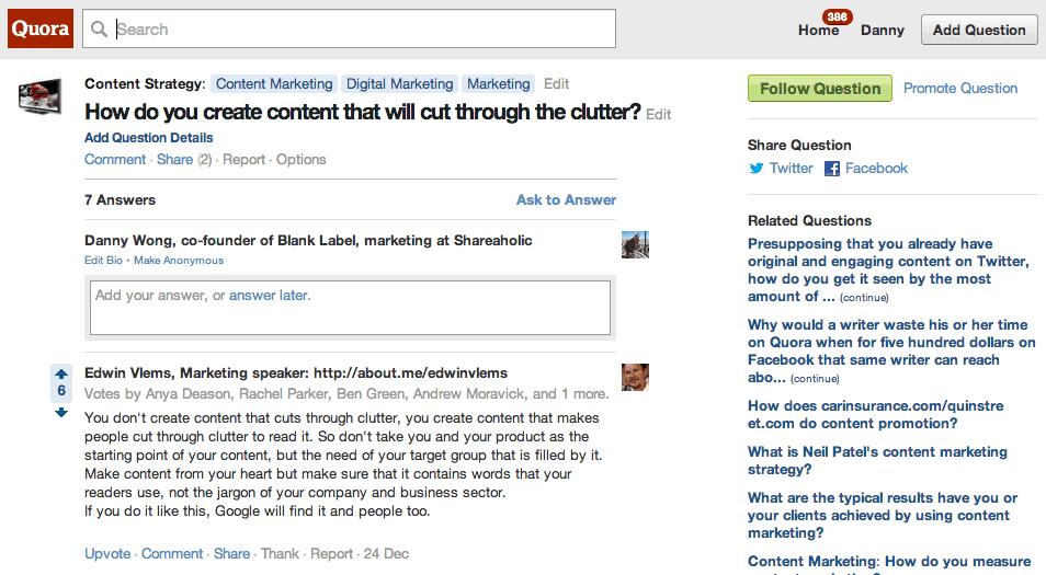 Reposting to Quora