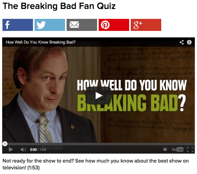 Breaking Bad Quizzes