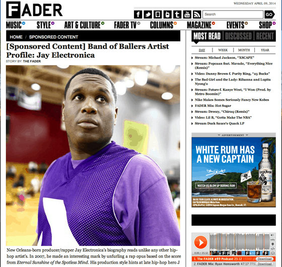 Fader Sponsored Content