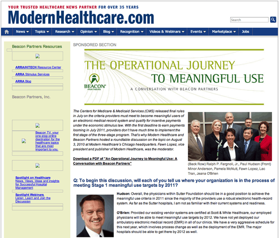 ModernHealthcare Sponsored Content