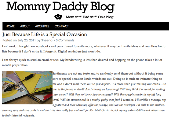 Mommy Daddy Blog Sponsored Content