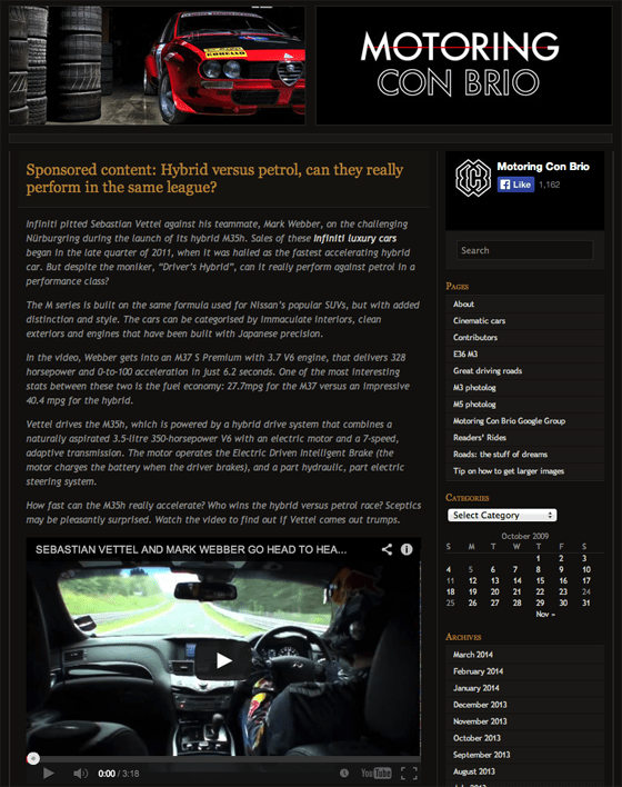 Motoring Con Brio- Sponsored Content
