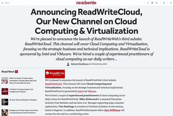 ReadWriteCloud