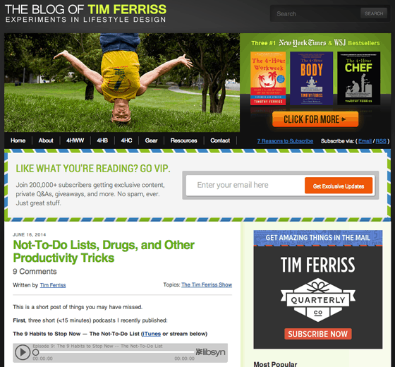 Tim Ferriss Blog