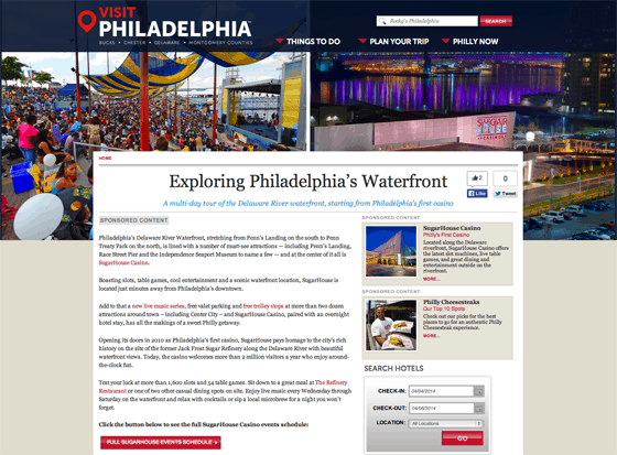VisitPhilly Sponsored Content