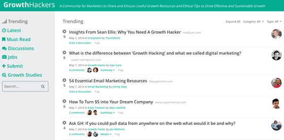 Growth Hackers screenshot
