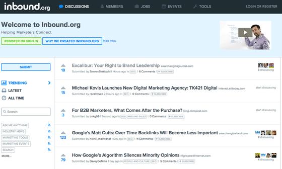 Inbound.org screenshot